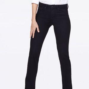 NYDJ Barbara Black Bootcut Extra Long Jeans